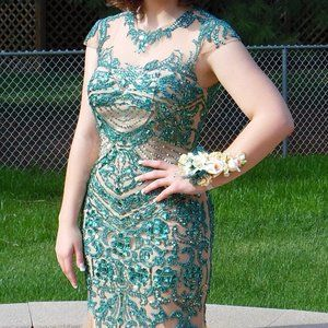 Sherri Hill Beaded Gown